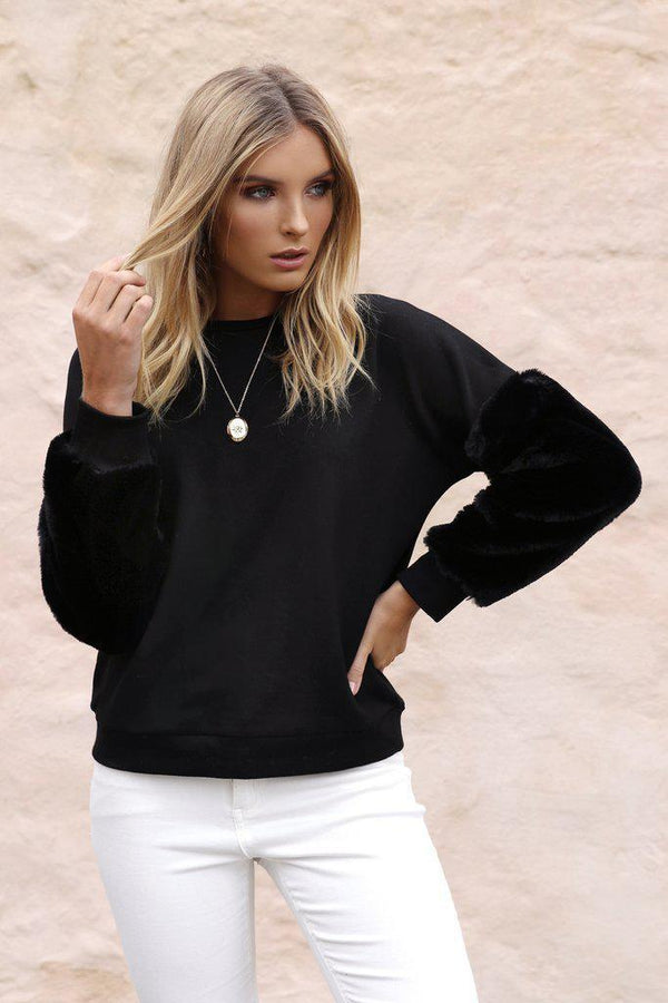 Gwen Sweater - Black - BlubellaFashion