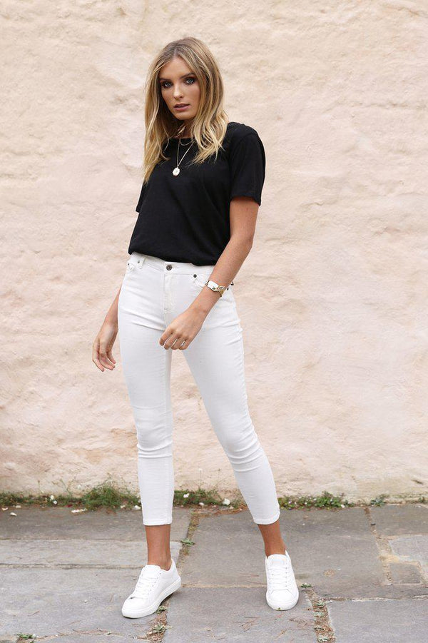 Harper Jeans - White - BlubellaFashion