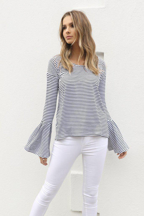 Harvey Stripe Top - BlubellaFashion