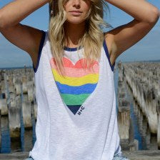 Retro Heart Ringer Tank - BlubellaFashion