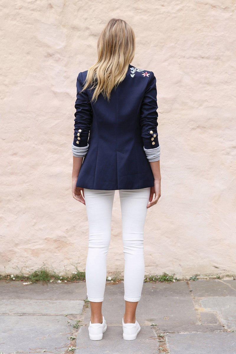 Izar Blazer - Navy - BlubellaFashion