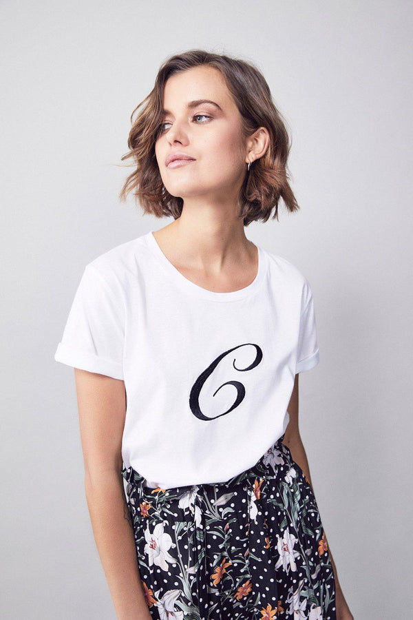 Letter Embroidery T-Shirt - BlubellaFashion
