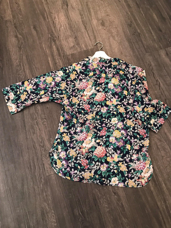 Linen Floral Shirt - BlubellaFashion