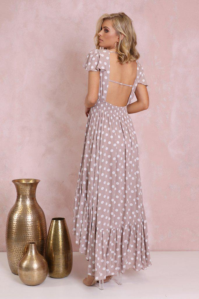Luciana Polka Dot Maxi Dress - BlubellaFashion