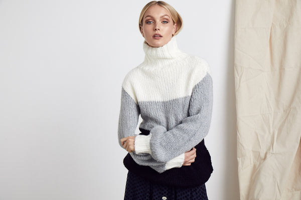 Trio Knit Jumper - BlubellaFashion