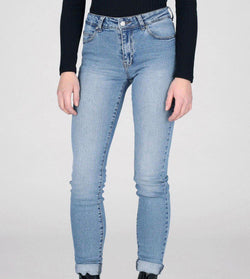 Regina Light Stone Denim Jean - BlubellaFashion
