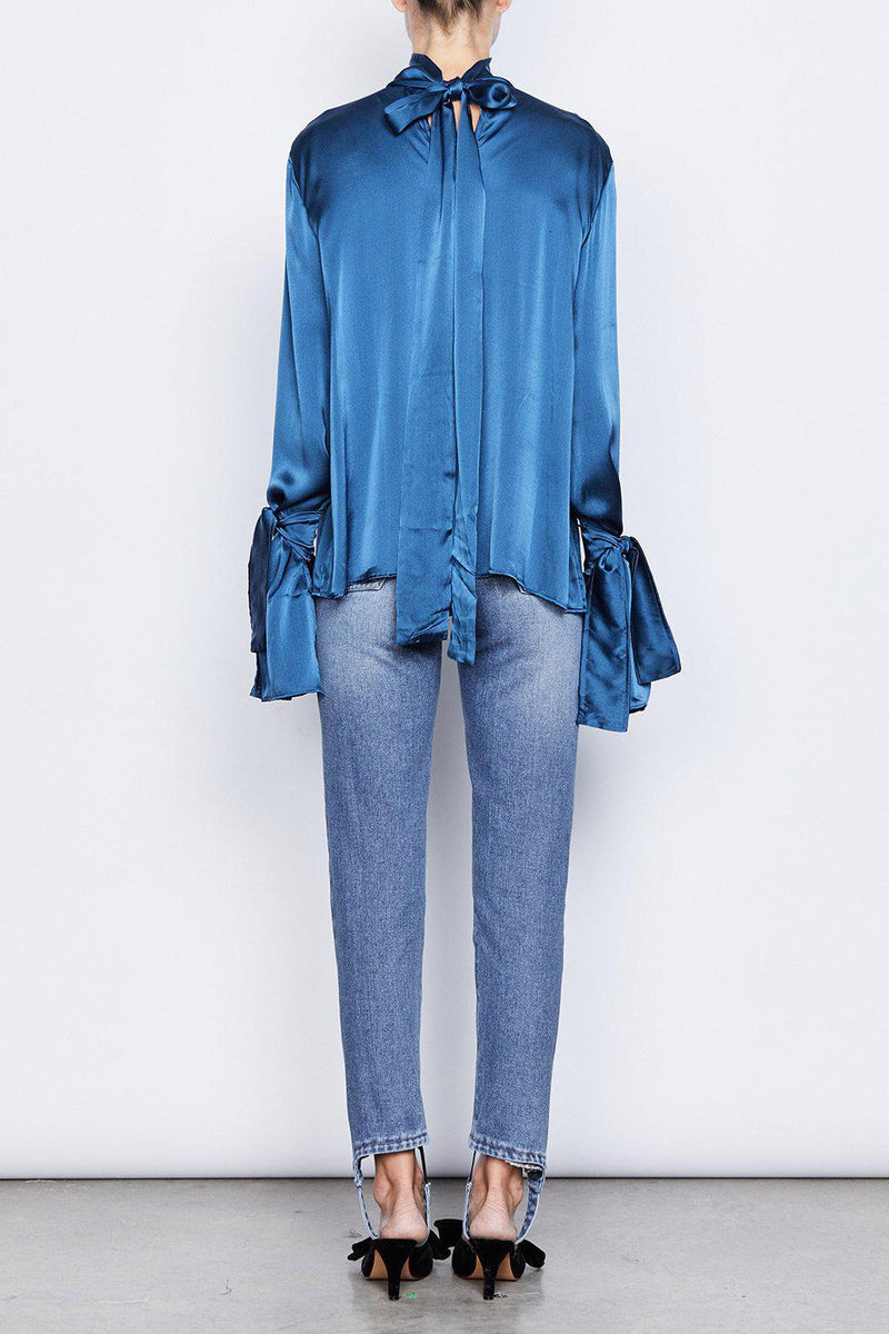 Sintra Silk Blouse - BlubellaFashion