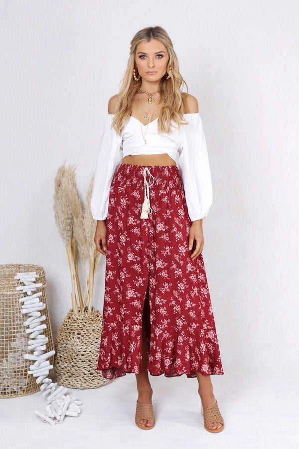 Tamara Maxi Skirt - BlubellaFashion