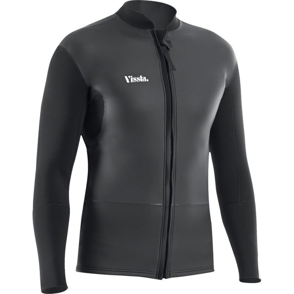 Vissla 2mm Front Zip Jacket Black