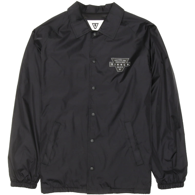 Vinyl Coaches Jacket Black