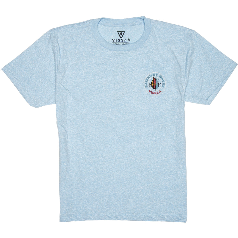 Coral Reefer Boys Tee Ice Blue Heather
