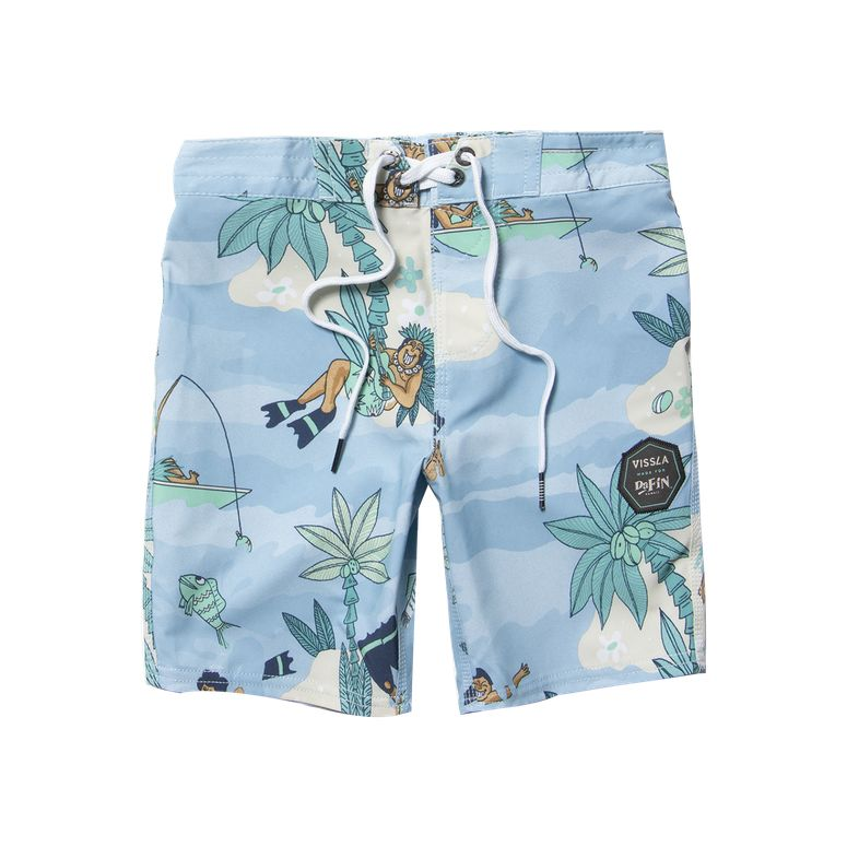 "DaFiN Point Panic 13"" Kids Boardshort Pacific Blue"