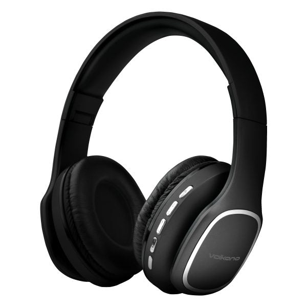 Volkano Phonic Series Bluetooth Full Size Headphones with Mic - Black