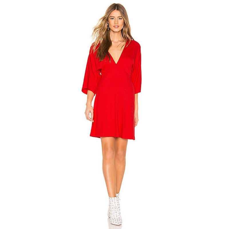 Belleza Dress Red