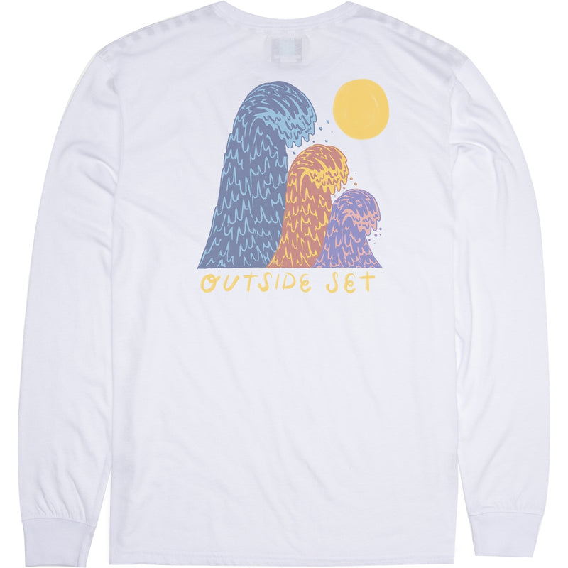 Outside Sets LS Boys Tee White