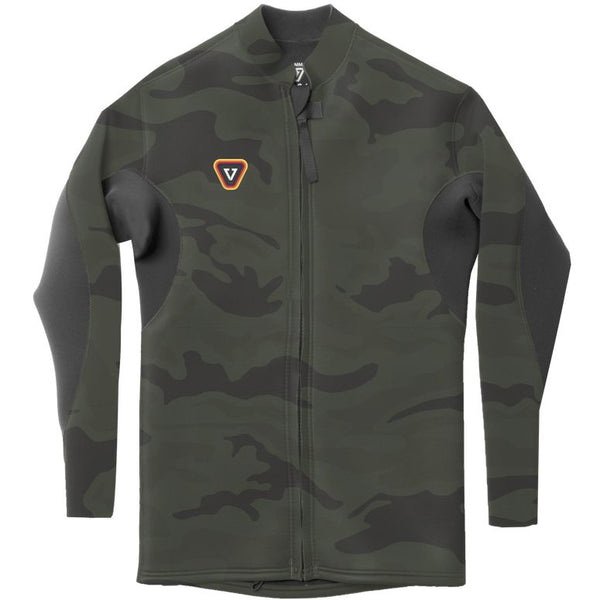 Vissla The Trip Front Zip Boys Jacket Camo