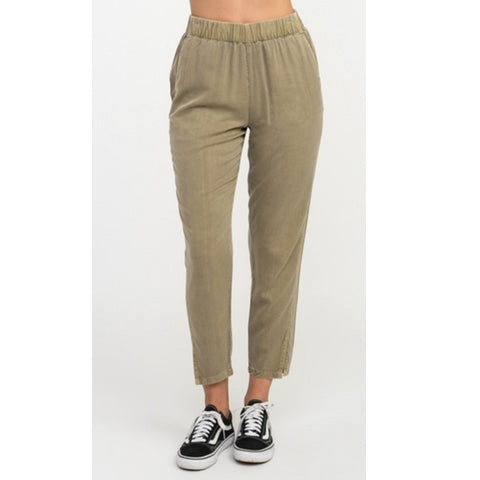 Chill Vibes Elastic Pant Wood