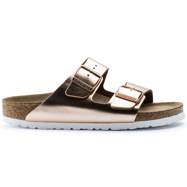 Arizona Soft Footbed Narrow Metallic Copper Leather
