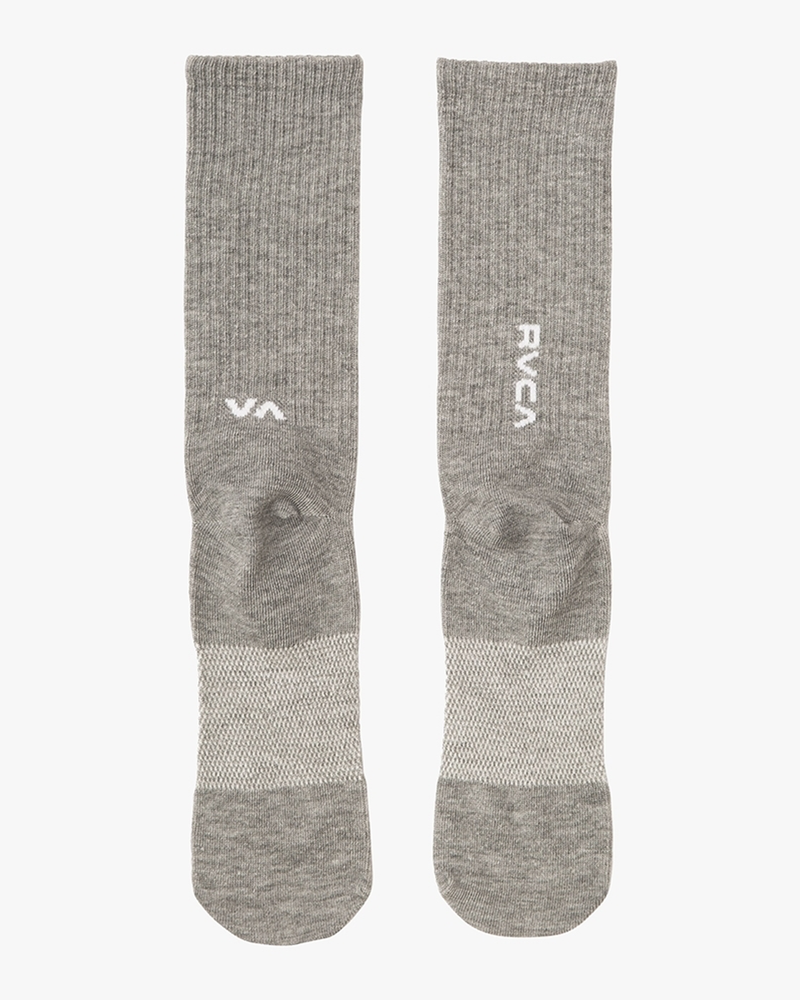 RVCA Sport Hi Crew Socks Heather Grey