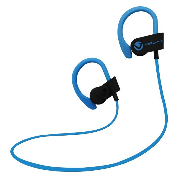 Volkano Snug Series Petite Bluetooth Wireless Earphones - Black/Blue