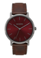 Porter Leather Gunmetal Burgundy