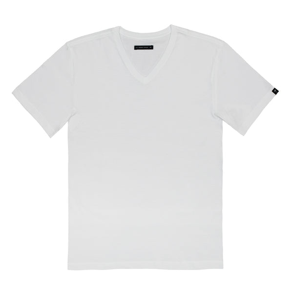 ATG Fashion Vneck Tee White