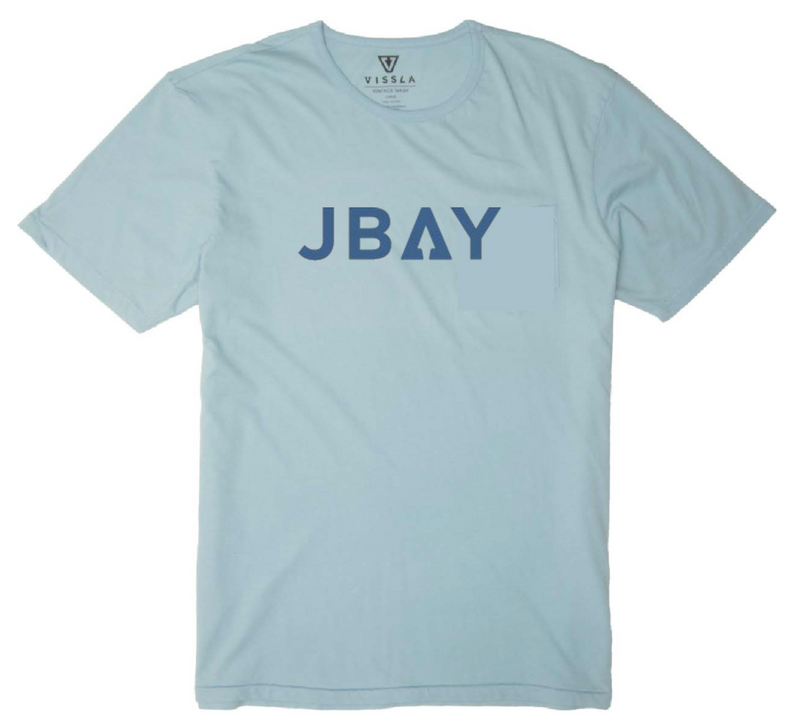 Vissla Jbay Boys Tee Ice Blue