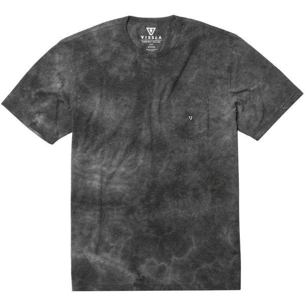 Calipher Embroidered Tie Dye Tee Black Heather