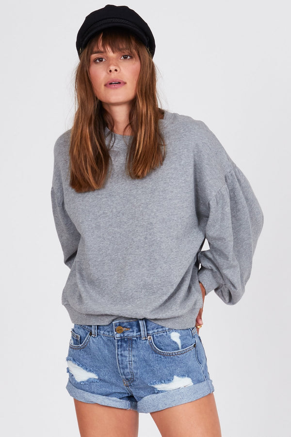 Bayamo Fleece Pullover Heather Grey