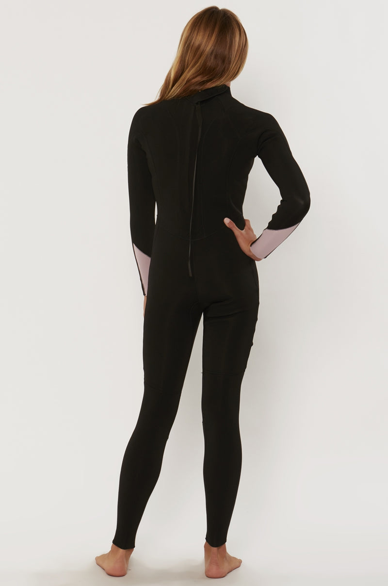 7 Seas 3/2 Girls Back Zip Full Suit Black