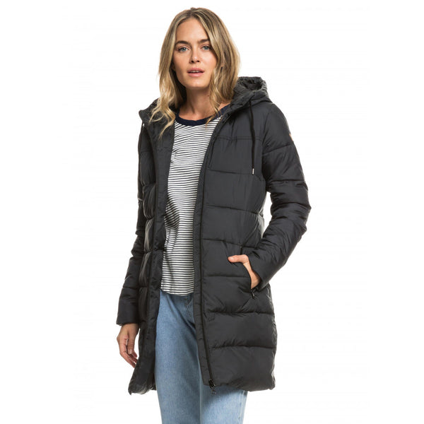 Evening Shadow Longline Gooded Puffer Jacket