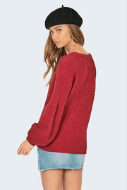 Rodas Sweater Crimson - The Store Stuff