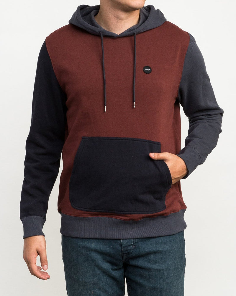 Ruddy Color Blocked Hoodie Bordeaux