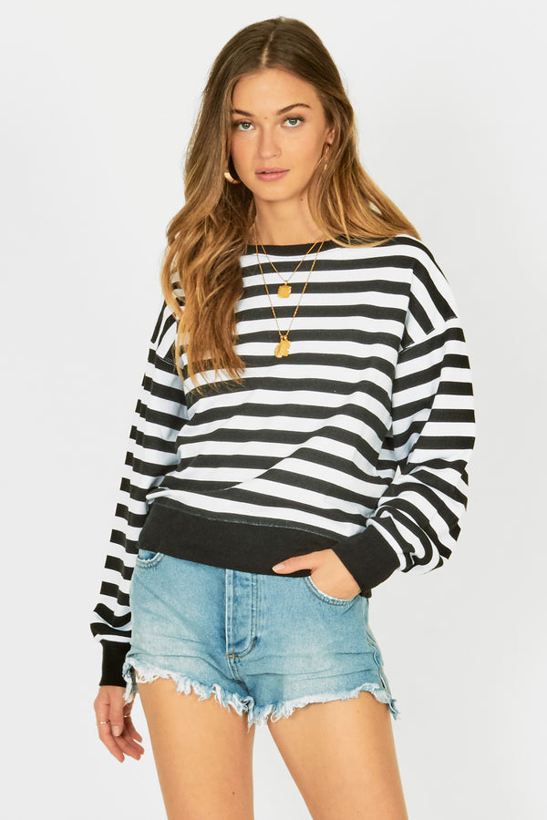 Rosa Fleece Stripe