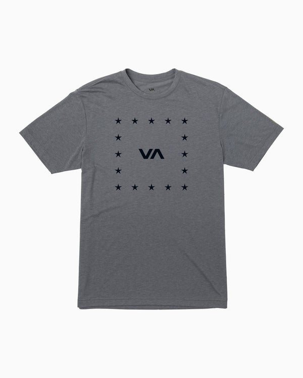 VA Corners Performance T-shirt Grey Noise