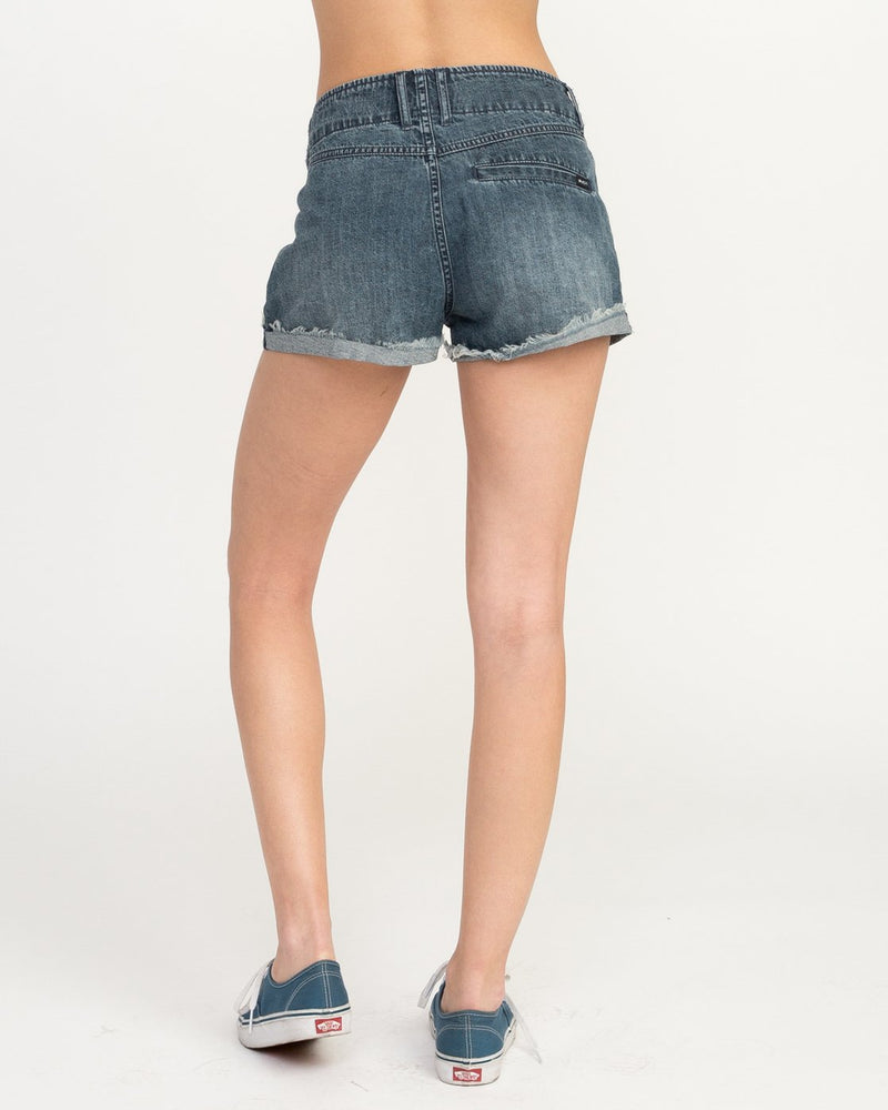 Vally Lace Up Denim Short