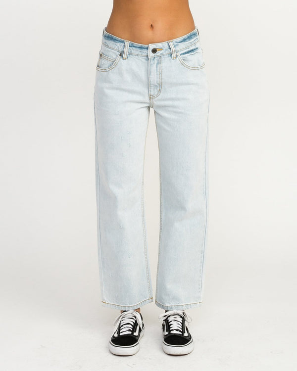 Filtered Straight Leg Denim Jean