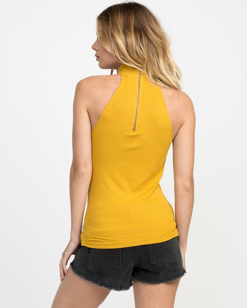 FOLLOW ME MOCK NECK TANK TOP