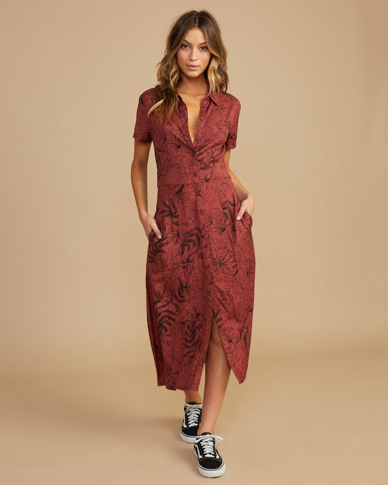 Caper Button-Up Maxi Dress