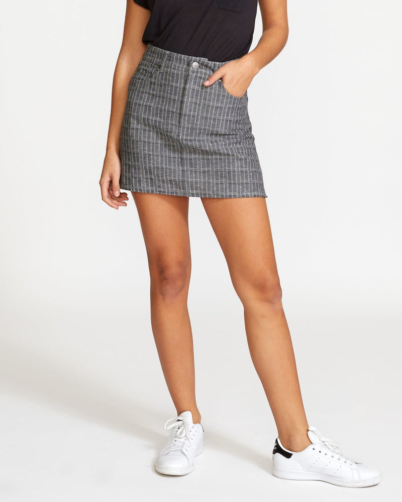 Rowdy Plaid Mini Skirt