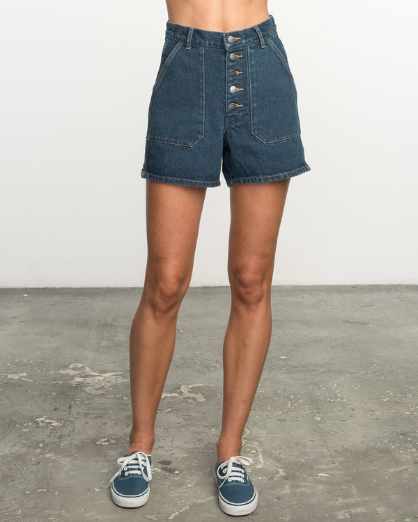 No Age High-waisted Denim Shorts