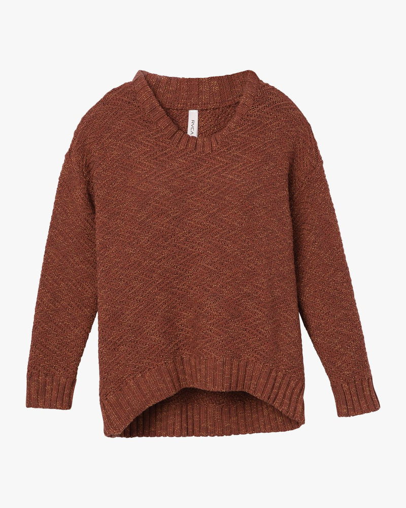 Zigged Knit Sweater Henna