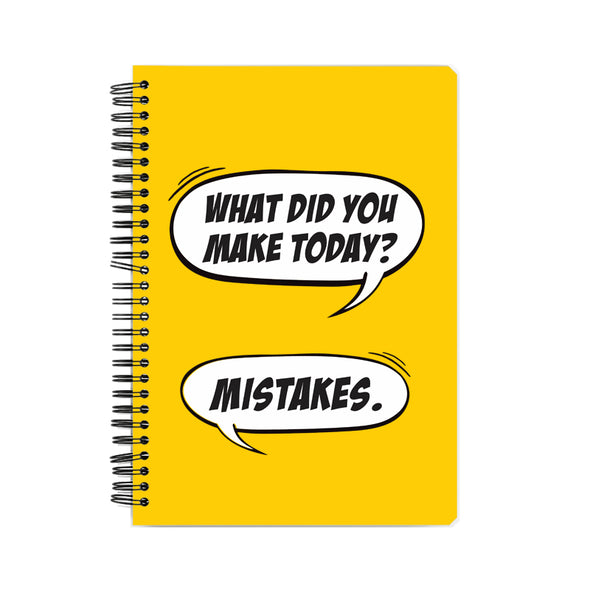 Made Mistakes Notebook