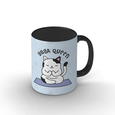 Yoga Queen Black Mug