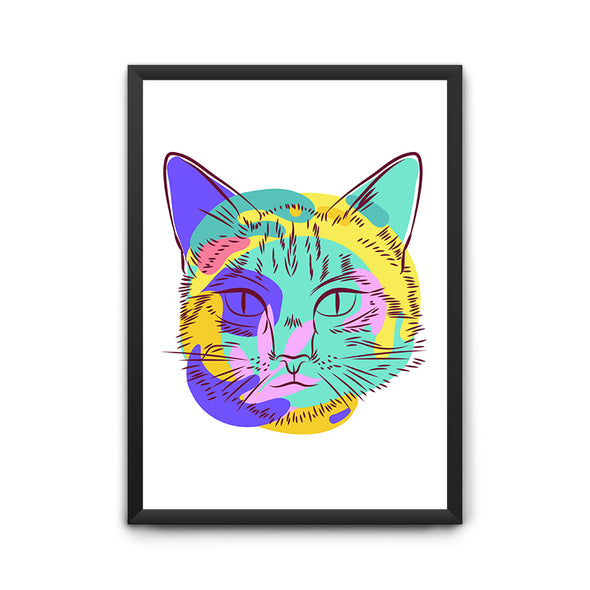 Cat Face Poster - POPCON