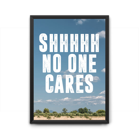 No One Cares Poster