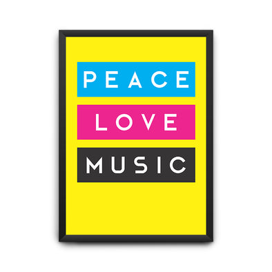 Peace Love Music Poster