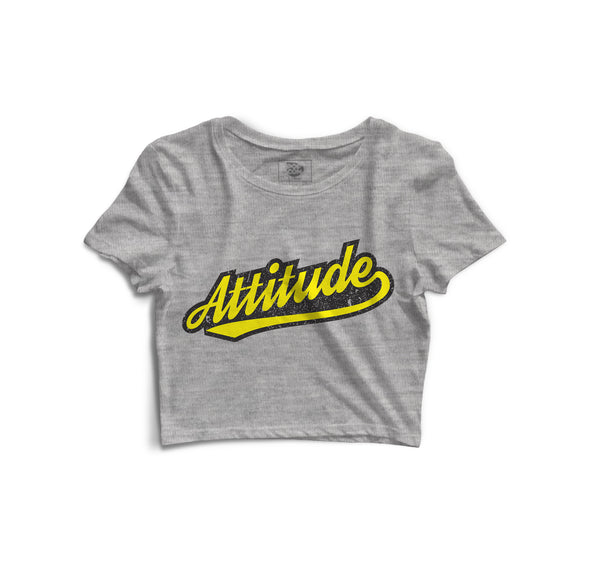 Attitude Printed Crop Top - POPCON