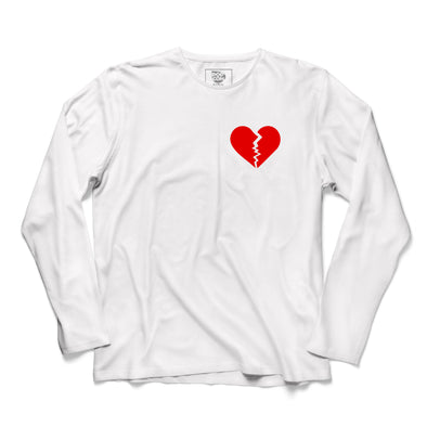 Broken Heart Printed Full Sleeve T-shirt - POPCON