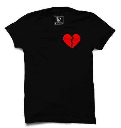 Broken Heart Printed Half Sleeve T-shirt - POPCON